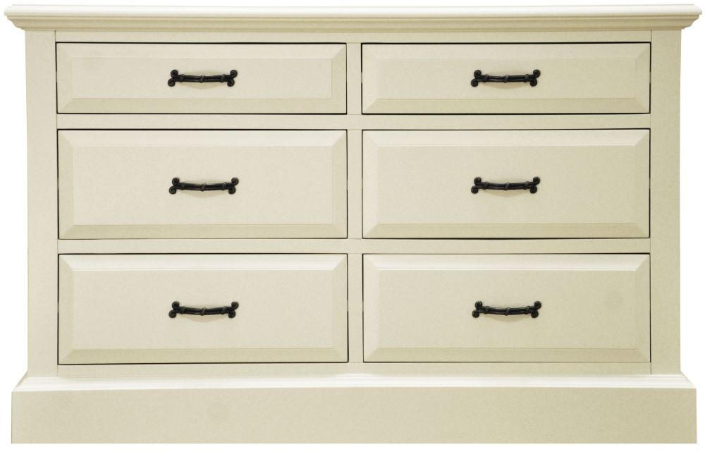 Toulouse Painted Pine Chest of Drawer - 6 Drawer