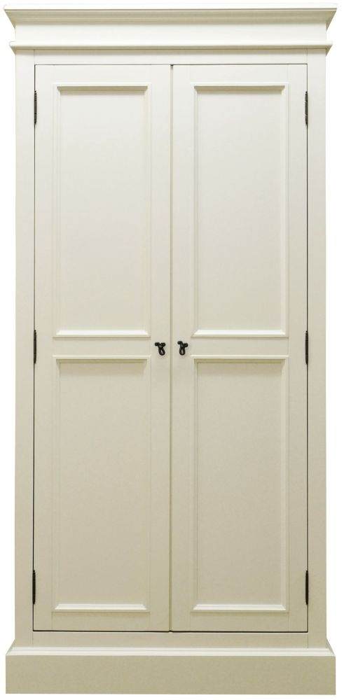 Toulouse Off White Painted Pine Wardrobe - Full Hanging