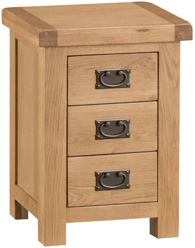 Tucson Oak Narrow Bedside Cabinet