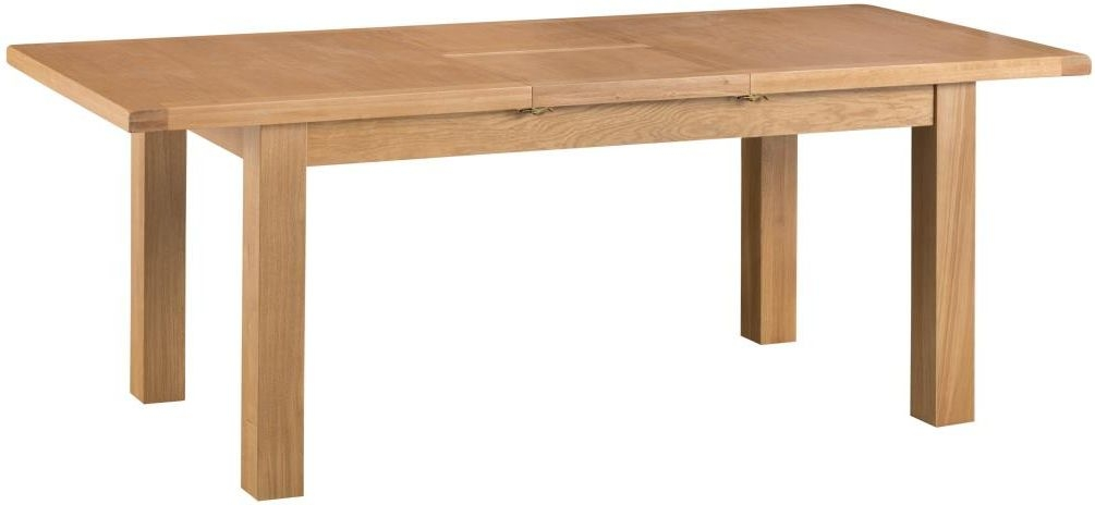 Tucson Oak Large Butterfly Extending Dining Table