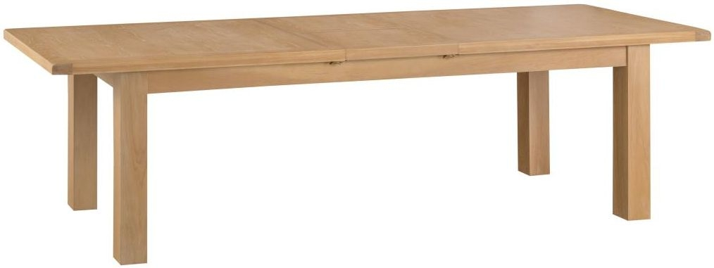 Tucson Oak Extra Large Butterfly Extending Dining Table