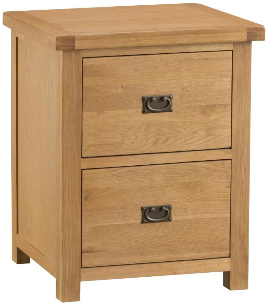Tucson Oak Filing Cabinet