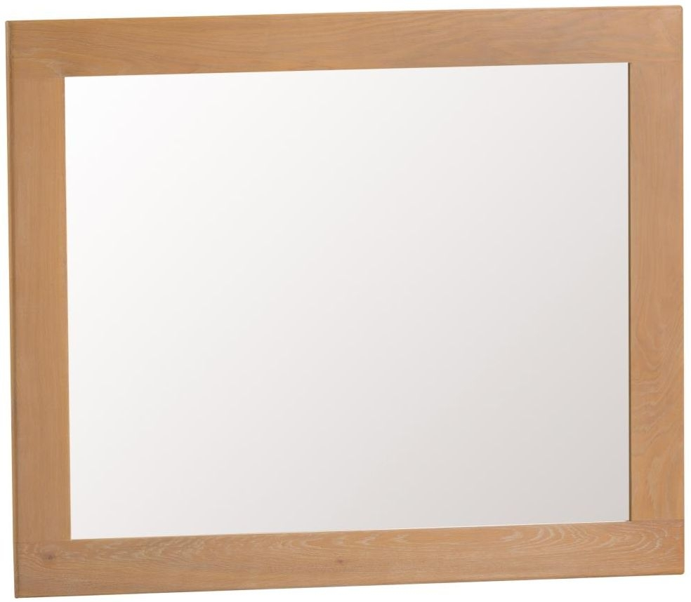 Tucson Oak Rectangular Wall Mirror - 120cm x 100cm
