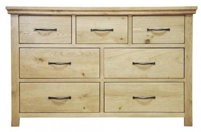 Weardale Oak Chest - 3 over 4 Drawer