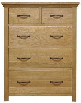Weardale Oak Chest of Drawer - 2 Over 3 Jumbo