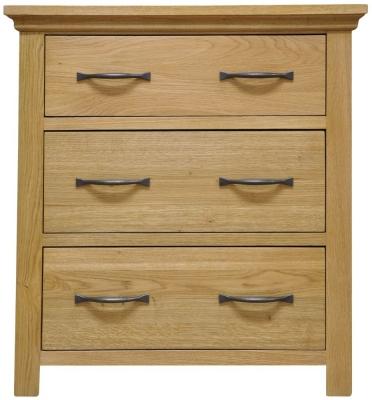 Weardale Oak Chest of Drawer - 3 Drawer