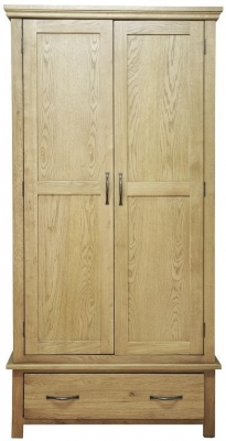 Weardale Oak Wardrobe - Gents