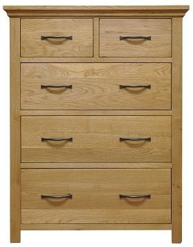 Weardale Oak Chest of Drawer - 2 Over 3 Jumbo