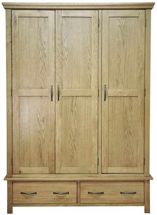 Weardale Oak Wardrobe - Triple