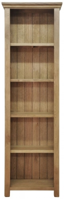 Weardale Oak Bookcase - Large Narrow