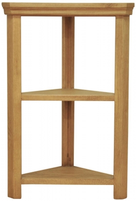 Weardale Oak Shelf Unit - Corner