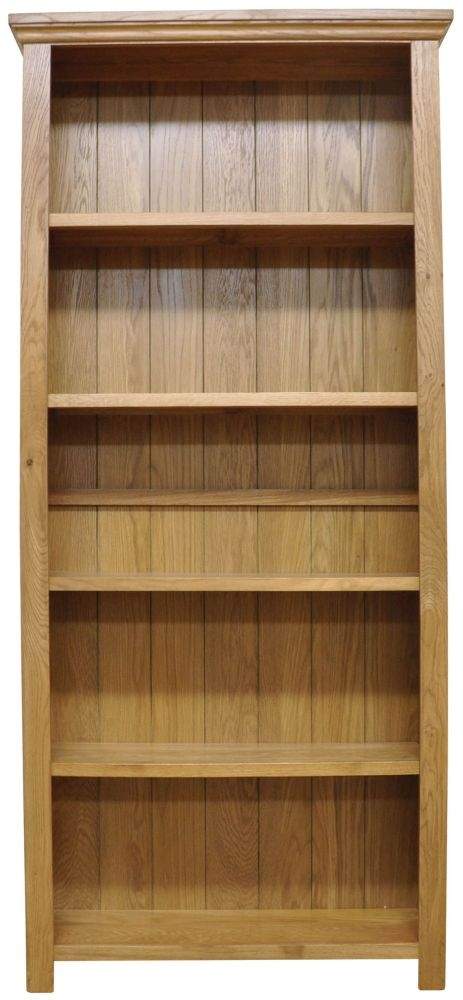 Weardale Oak Bookcase - Large Wide