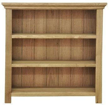 Weardale Oak Bookcase - Small Wide
