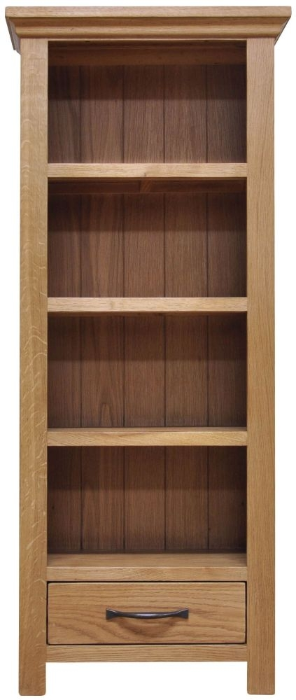 Weardale Oak CD DVD Rack
