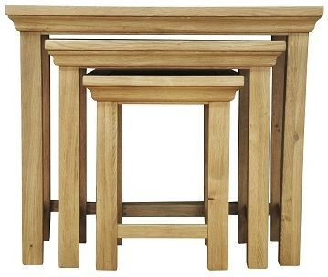 Weardale Oak Nest of 3 Tables