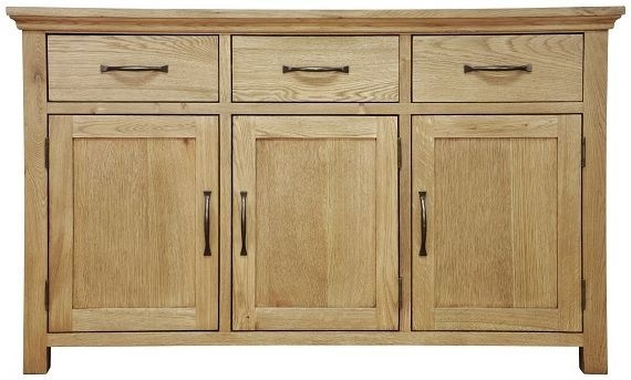 Weardale Oak Sideboard - 3 Door