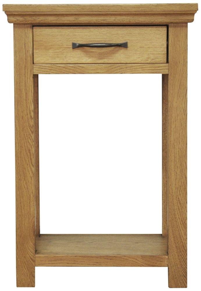 Weardale Oak Telephone Table