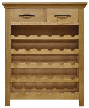 Weardale Oak Wine Cabinet