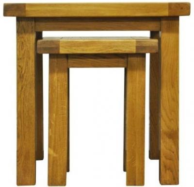 Wilton Oak Nest of 2 Tables