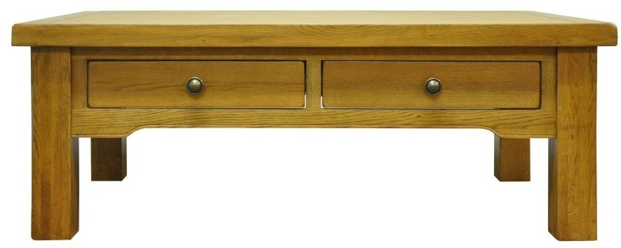 Wilton Oak Coffee Table - 4 Drawer Large