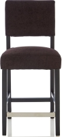 Serene Linnaea Aubergine Fabric Barstool with Black Legs (Set of 2)