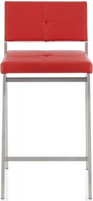 Serene Laurel Red Faux Leather Barstool (Set of 2)