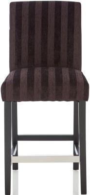 Serene Saffron Aubergine Fabric Barstool with Black Legs (Set of 2)