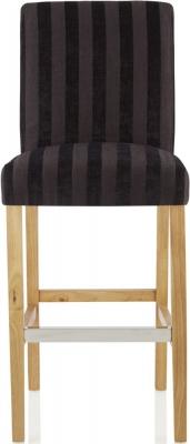 Serene Saffron Aubergine Fabric Barstool with Oak Legs (Set of 2)