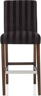Serene Saffron Aubergine Fabric Barstool with Walnut Legs (Set of 2)