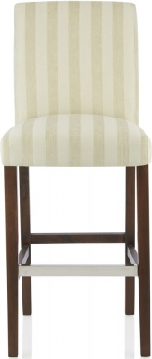 Serene Saffron Cream Fabric Barstool with Walnut Legs (Set of 2)