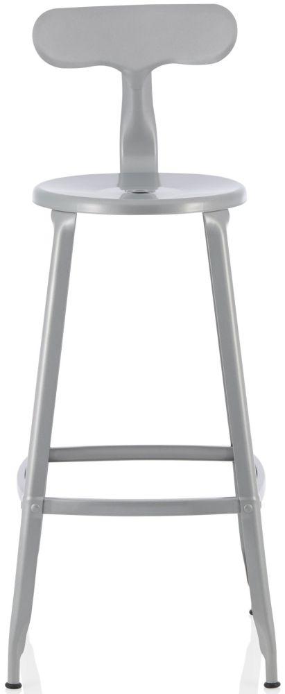 Serene Anise Glossy Silver Barstool (Set of 4)