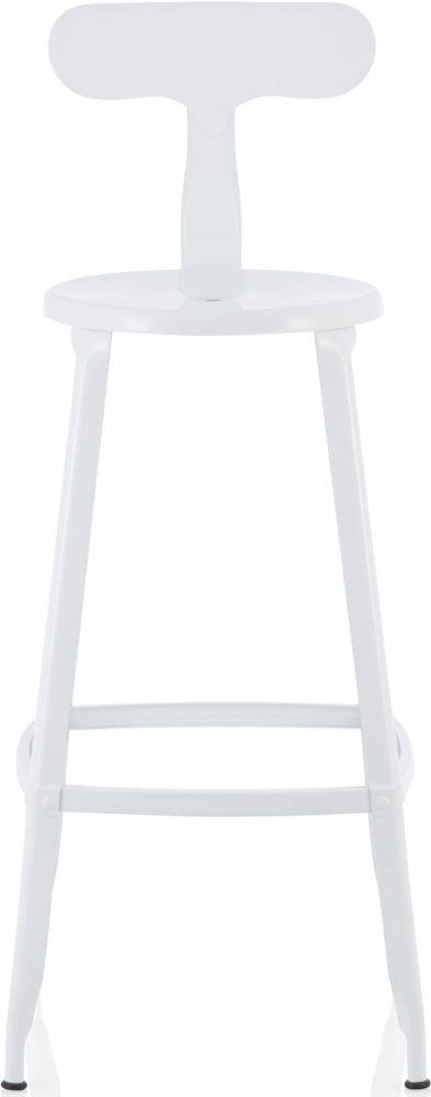 Serene Anise Glossy White Barstool (Set of 4)