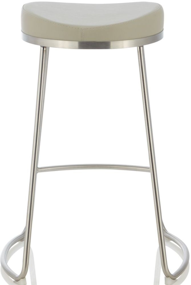Serene Aspen Grey Faux Leather Barstool (Set of 2)