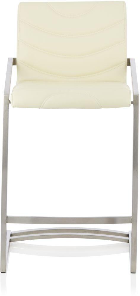 Serene Spruce Cream Faux Leather Barstool (Set of 2)