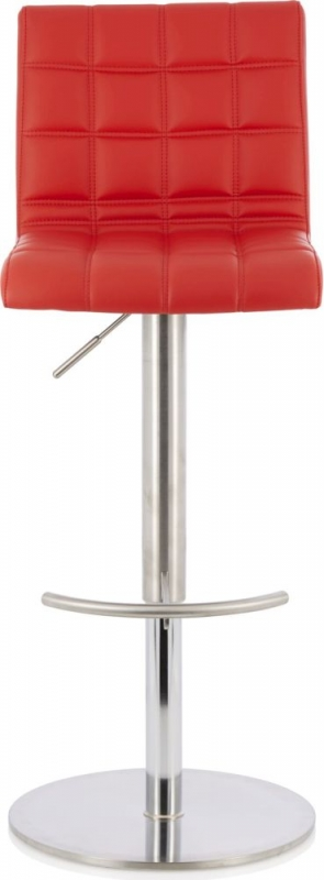 Serene Bryony Red Faux Leather Swivel Bar Stool