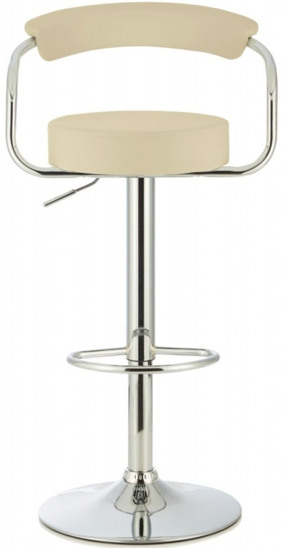 Serene Calla Cream Faux Leather Swivel Bar Stool (Set of 2)