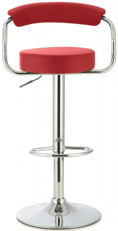 Serene Calla Red Faux Leather Swivel Bar Stool (Set of 2)