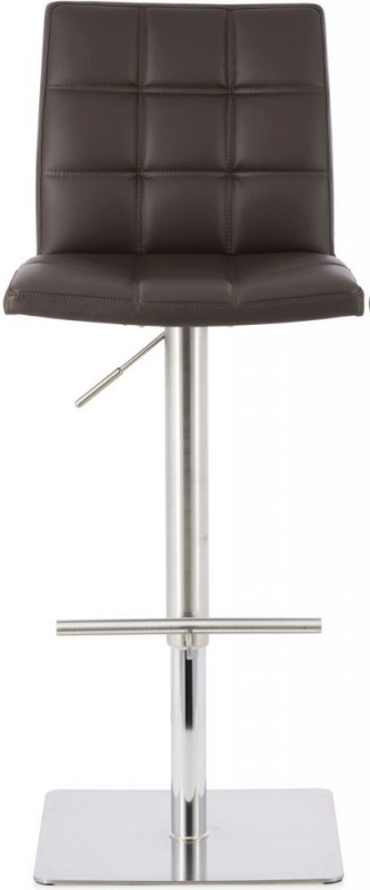Serene Reed Brown Faux Leather Swivel Barstool (Set of 2)