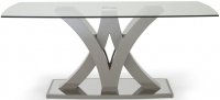 Serene Barcelona Taupe Glass Dining Table