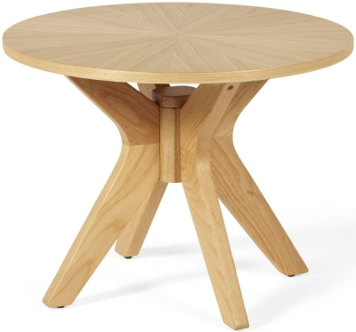 Serene Bexley Oak Lamp Table