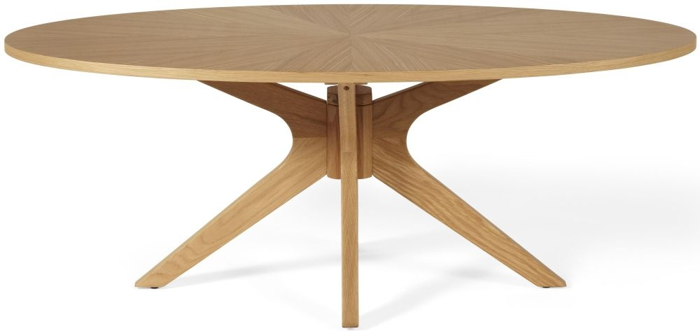 Serene Bexley Oak Oval Coffee Table