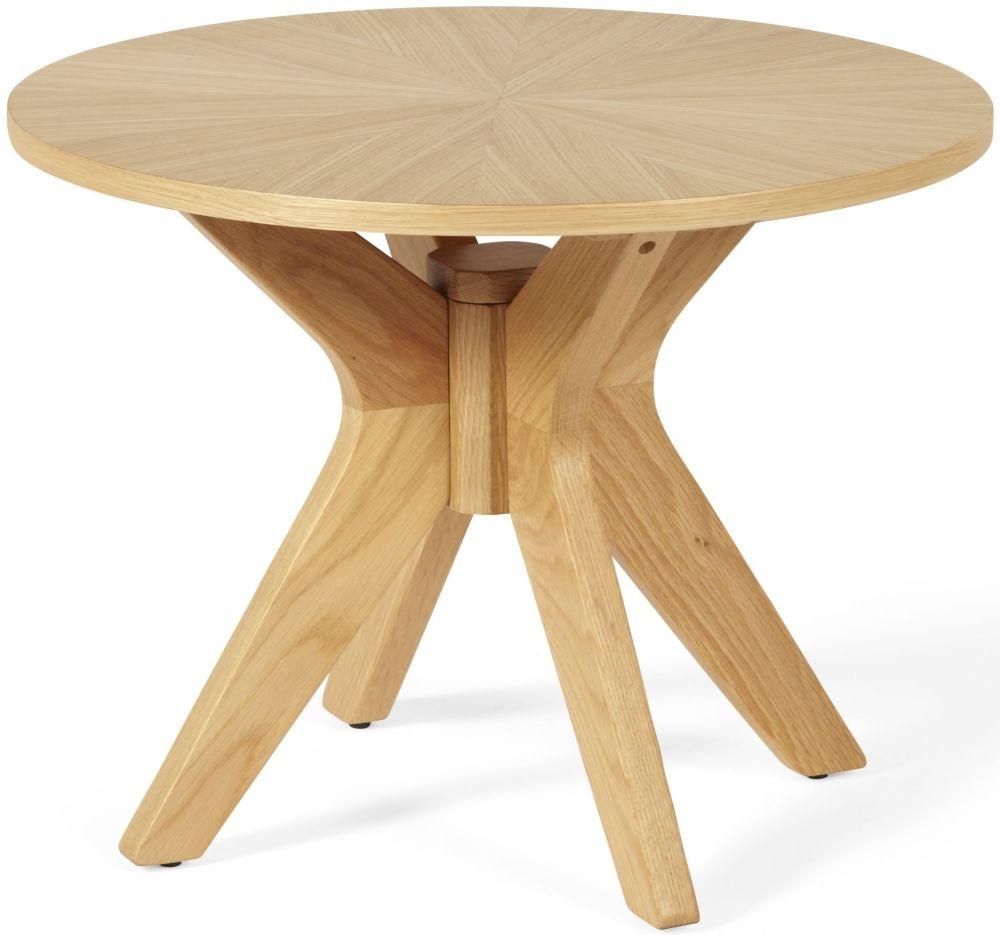 Serene Bexley Oak Lamp Table