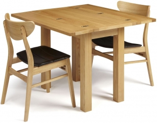 Serene Brent Oak Dining Set - Extending with 2 Camden Oak Chairs