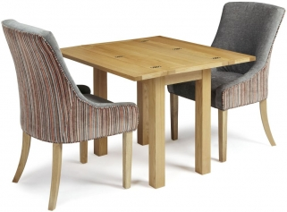 Serene Brent Oak Dining Set - Extending with 2 Richmond Orange Steel Chairs