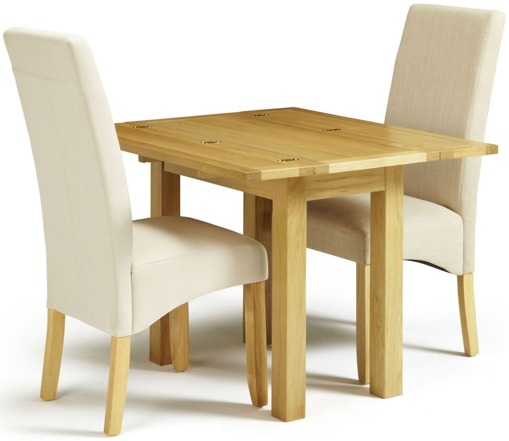 Serene Brent Oak Dining Set - Extending with 1 Merton Putty and 1 Stone Chairs