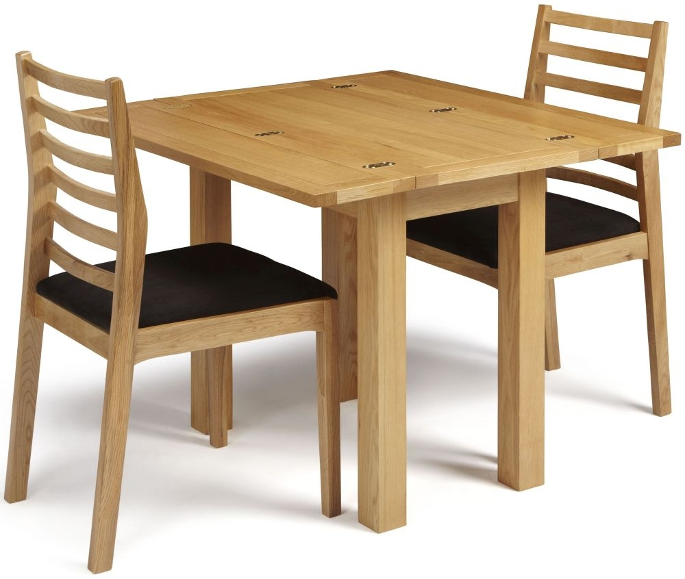 Serene Brent Oak Dining Set - Extending with 2 Lewisham Chairs
