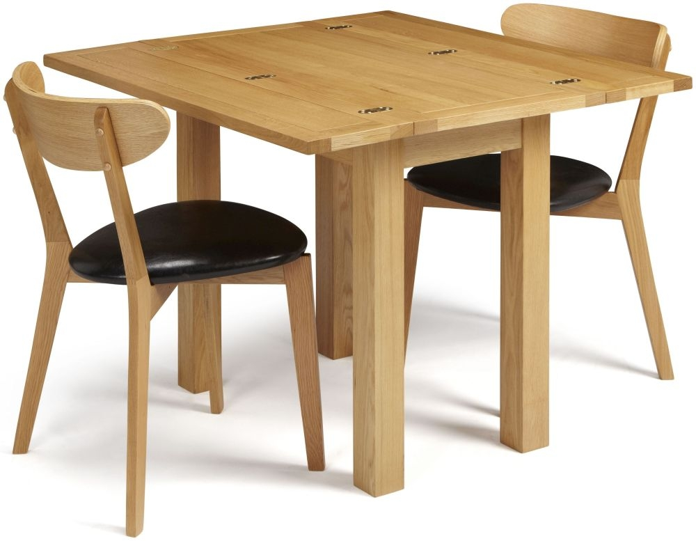 Serene Brent Oak Dining Set - Extending with 2 Newham Chairs