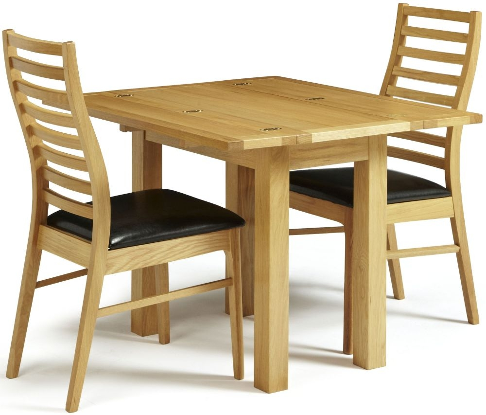 Serene Brent Oak Dining Set - Extending with 2 Wandsworth Chairs