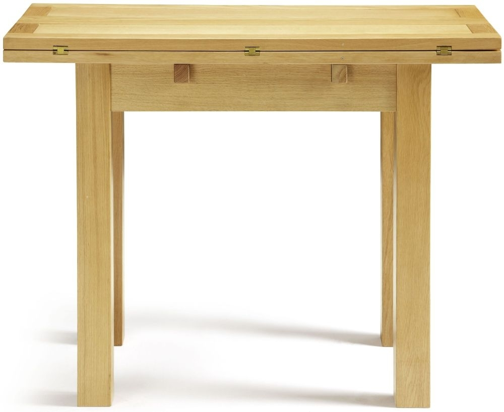 Serene Brent Oak Rectangular Extending Dining Table - 45cm-90cm