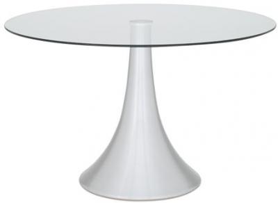 Serene Cadiz Round Glass Top Dining Table - 120cm